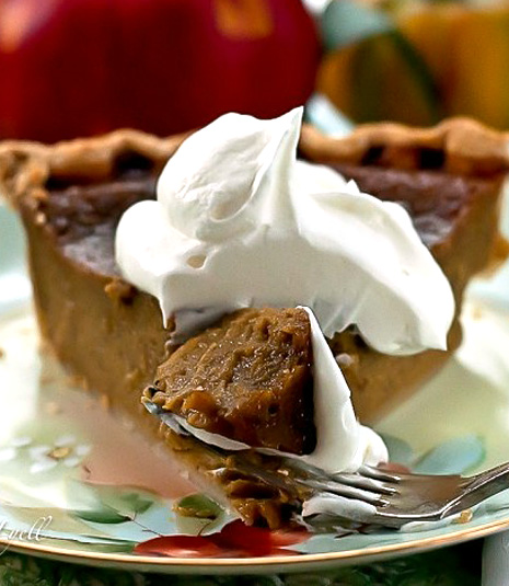 Toffee Pumpkin Pie
